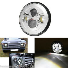"Fit For Land Rover Defender 90 7"" Round LED Headlight lamp Hi-Lo Beam 0547891"