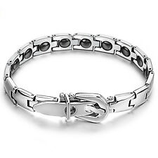 Women Ladies Titanium Health Magnetic Therapy Germanium Bracelet Bangle Gift