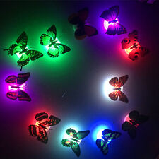 3D Butterfly Stickers LED Home Night Wall Light Luminous Lamp Colorful Lights
