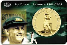 "Australia - ""CRICKET ~ SIR DONALD BRADMAN"" $5 UNC Coin in Mint Card 2001 !"