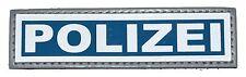 Brustschild Polizei Klett 11 x 3cm negativ blau