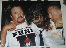 Mick Foley Terry Funk Signed 16x20 Photo PSA/DNA COA WWE Hell in a Cell Picture
