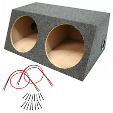 Car Audio Dual 15 Inch Sealed Stereo Sub Box Subwoofer Bass Speaker Enclosure