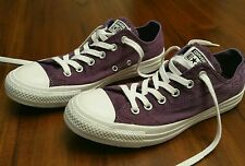 Converse All Star Womens Size 8 Purple Canvas Sneakers Shoes