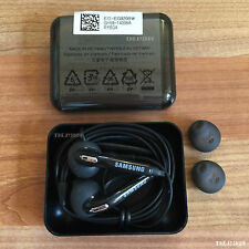 Genuine Samsung Galaxy S7 Edge S6 Earphones S5 Note Headphones+Case+Earbud BLACK