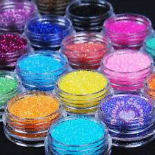 24 Pots Metal Shiny Fine Glitter Nail Art Tips Acrylic UV Powder Polish Deco Kit