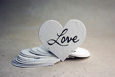Large Heart Shaped Love Flower Seed Paper Wedding Memorial Favors