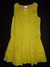 NWT Gap Kids 12 XL Dobby Stripe Sleeveless Yellow Girl's Dress New