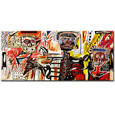 Jean Michel Basquiat - philistines - street art canvas print wall picture 39x24""