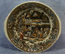 "Royal Tudor Ware 17 Century England 9 1/4"" Round Vegetable Serving Bowl w/Handle"