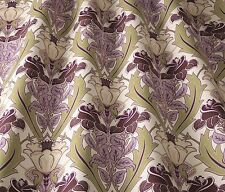 iliv  Art Deco Acanthus Berry/heather (William Morris Style)Curtain/Uphol Fabric