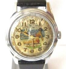 """VINTAGE EARLY RUSSIAN MEN'S """"KIROVSKIE"""" WATCH WITH NICE HAND PAINTING DIAL # 897"""