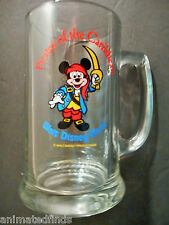 Disney Stein Mickey Mouse Pirates Of The Caribbean Cartoon Glass