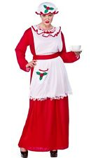 Mrs Santa Clause Madre Christmas Natale Costume Più Taglie XL 20-24