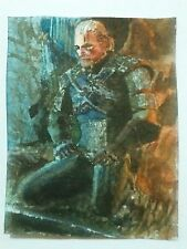 Aceo - The witcher - Geralt of Rivia. Meditation.  Watercolor