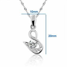 "Beautiful ""Swan"" 925 Sterling Silver Pendant #PE100880"