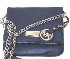 Michael Kors XS Extra Small Corinne Navy Pebbled Leather Crossbody Bag NWT $198