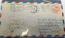Censor #31322 Passed Cover, APO 322, Airmail To US Weather Bureau, Jackson, Miss