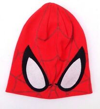 Marvel Ultimate Spider-Man Boy's Red Graphic Character Beanie Hat Size 53 cm