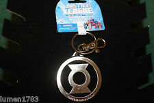 "HEAVY DUTY 2 1/8"" WIDE GREEN LANTERN KEY RING + CRAB CLIP DC JUSTICE LEAGUE NEW"