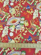 "ITALIAN DINNER BY ALEXANDER HENRY 100% COTTON FABRIC 45"" WIDTH FH-2273 FOOD"