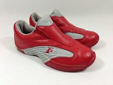 REEBOK ALLEN IVERSON I3 MVP SLIP ON SNEAKERS SHOES RED GRAY SIZE 4