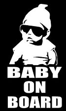 BABY ON BOARD The Hangover Sticker 200mm x 105mm cool kid sunnies funny decal