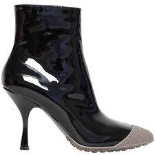 Miu Miu heel ankle boots stivaletti tg 37 uk 5.5 grey + black nero + grigio