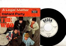 THE WHO 7'' PS A Legal Matter GERMANY DL 80 000 very rare German MOD COVER 45