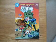 1985 DC THE NEW TEEN TITANS #11 NIGHTWING SIGNED JOSE GARCIA-LOPEZ ART, WITH POA