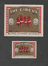 Ancienne   étiquette   allumette Belgique  CC29 The Circus 3  Cheval
