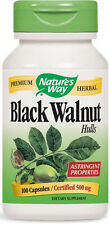Black Walnut Hulls - 100 Capsules - Nature's Way