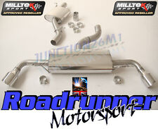 MILLTEK AUDI TT MK2 3.2 V6 EXHAUST CAT BACK RESONATED DUAL 100MM GT100 SSXAU236