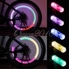 2X Tapón Luz Led Para válvula Llanta Rueda Coche Moto Bici Bicicleta Multicolor