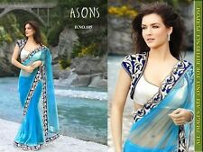 Saree Exclusive Beautiful Designer Bollywood Indian Saree Partywear Sari 105