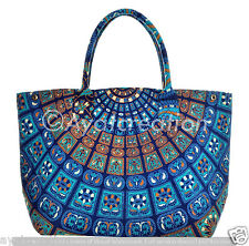 Handmade Large Cotton Mandala Tapestry Bag Printed Cotton Tapestry Hand Bag