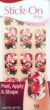 Kiss Nails Stick- On Nail Strips Nail Appliques Full Service Butterflies LTD ED