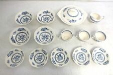 English Staffordshire Chelsea Roses 14 Pieces Hand Engraved Fine China LOOK