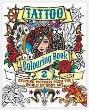 Adult Colouring Book Aussie Stock New Tattoo Theme Coloring Art Stress Therapy