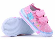 SPRING SUMMER girls canvas shoes trainers size 5 UK BABY INFANT Toddler