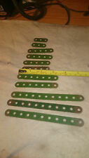 11 Meccano Various Length Perforated Strips Part Numbers 2 3 5 & 6a