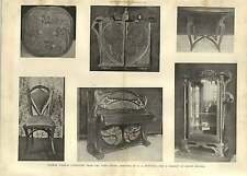 1903 Modern French Furniture Paris Salon Belleville Delisle