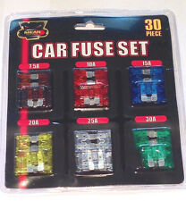 30 pc Assorted Car Auto Fuse Set 5 10 15 20 25 30 Amp