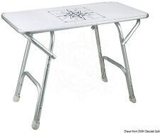 Osculati Rectangular High-Quality Anodized Aluminium Foldable Table 7.5Kg