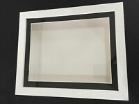 3D Deep Box Picture Frame Display Memory Box Medals Memorabilia Flowers white