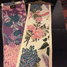 Tapisserie Tapestry Renaissance Woven Art Bell Pull Brass Hangers Roses