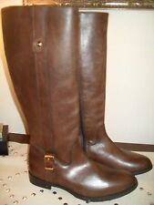 CHARLES DAVID Brown Leather Equestrian Boots Made in Italy NWT Size 8.5 US