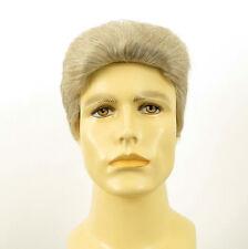 Perruque homme 100% cheveux naturel blanc méché gris QUENTIN 51