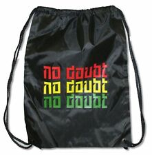 No Doubt Tri-Color Black Nylon Drawstring Tote Bag New Official