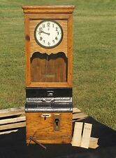 Antique 1926 International Time Recording Co ITR Co Early IBM Punch Clock w/ Key